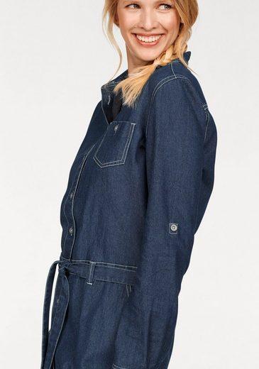 Cheer Jeanskleid, mit durchgehendem Knopfverschluss
