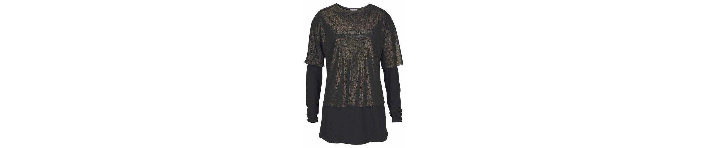 Aniston 2-in-1-Langarmshirt, mit Schriftzug