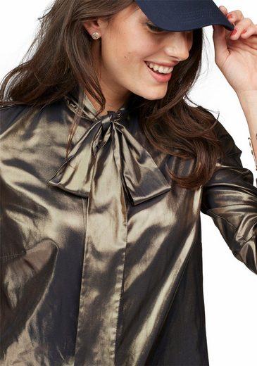 Aniston Schluppenbluse, mit Glanz