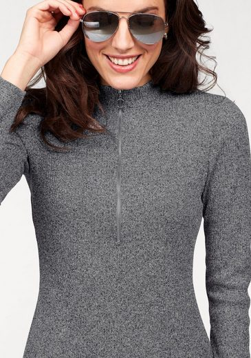 Aniston Strickkleid, vorne mit Reißverschluss