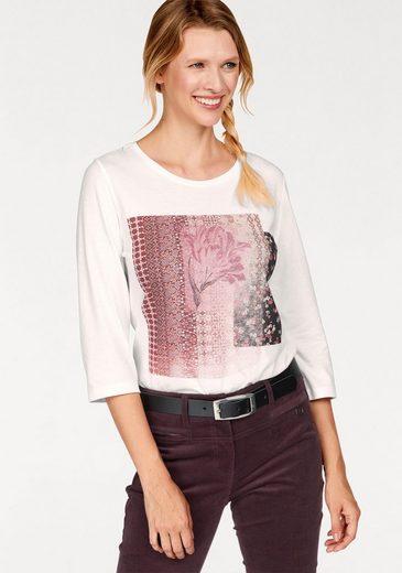 Cheer Print-Shirt, mit 3/4 langen Ärmeln