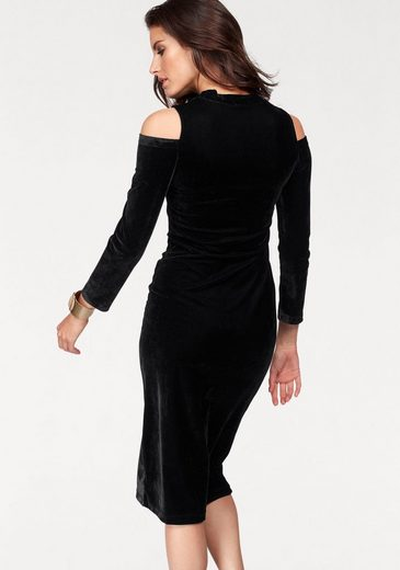 Aniston Samtkleid, mit Cut-out-Schultern