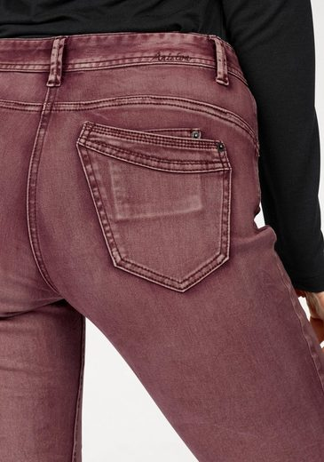 Aniston Skinny-fit-Jeans, in Crashoptik und used Washung