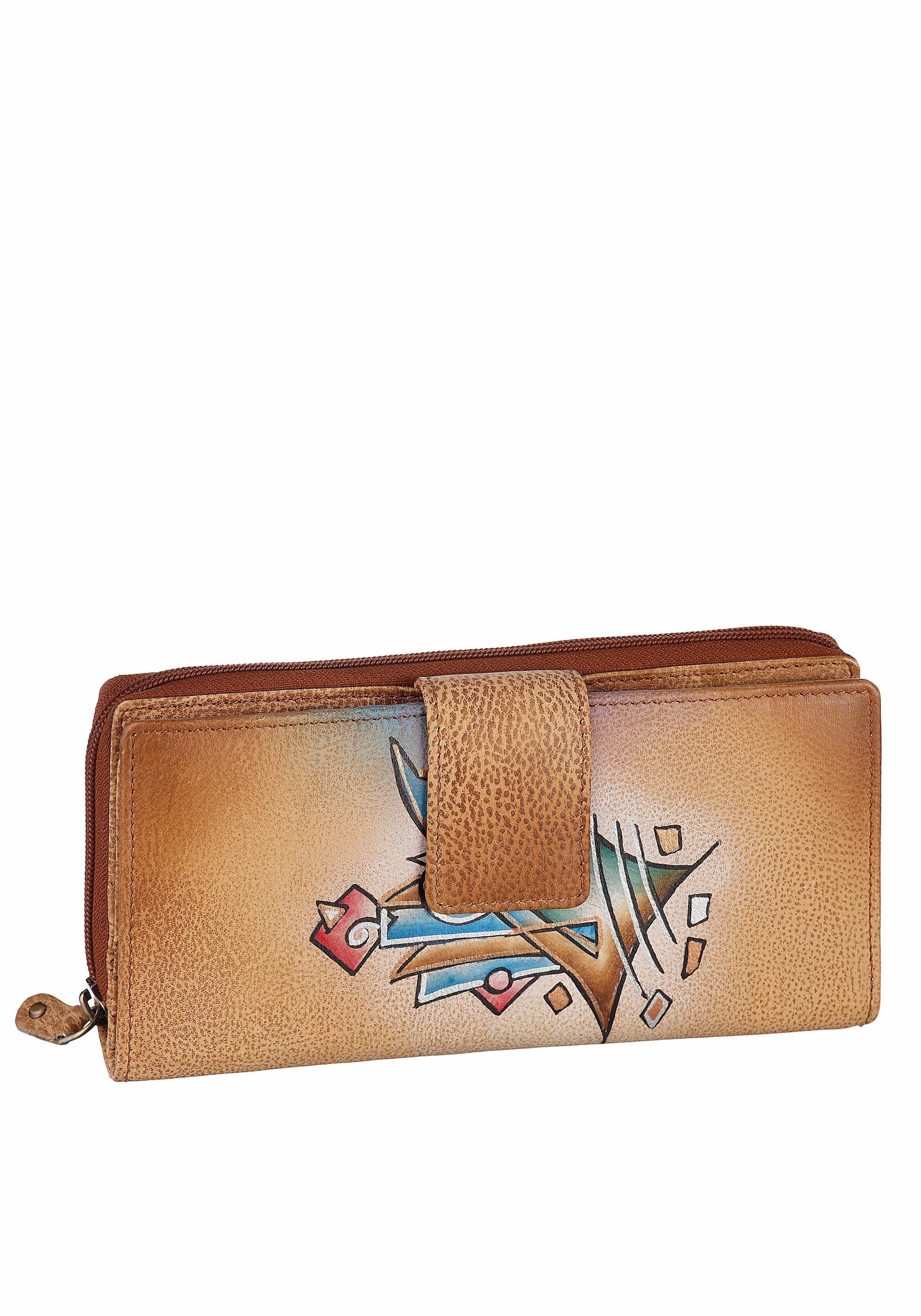 Art & Craft Geldbörse, aus echtem Leder mit sehr viel Kartenfächer