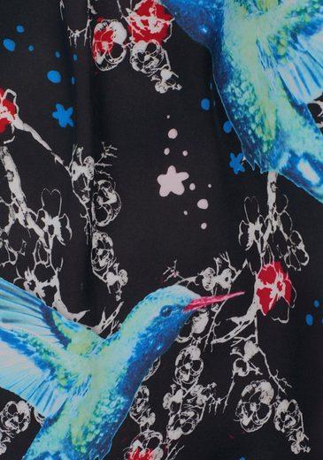 Tamaris Blusenshirt, mit exotischem Frontdruck