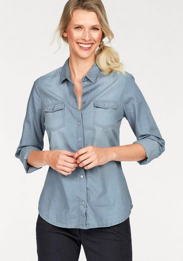 Cheer Jeansbluse, in leichter Used-Waschung