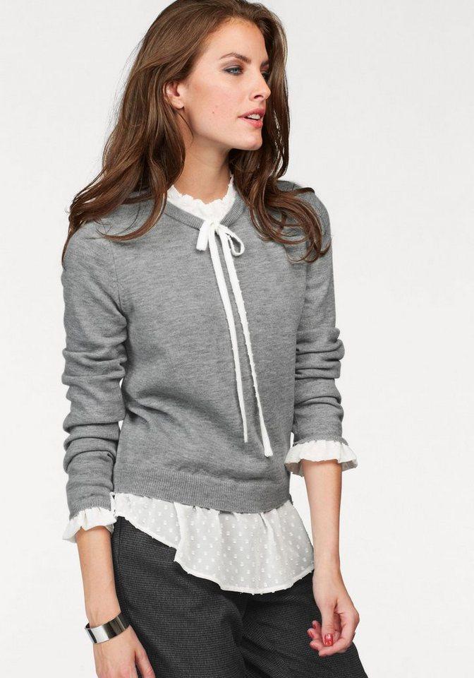 aniston 2 in 1 pullover mit blusen einsatz kaufen otto. Black Bedroom Furniture Sets. Home Design Ideas