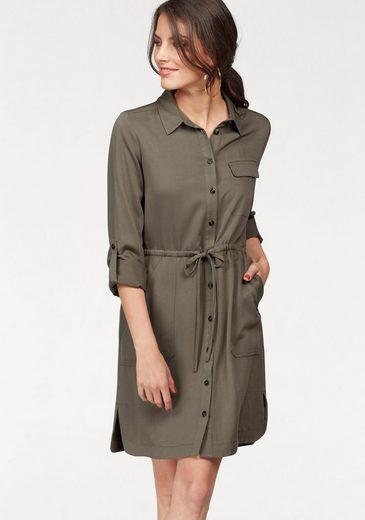 Tamaris Hemdblusenkleid, aus softem Viskose-Twill