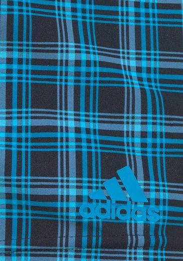 adidas Performance Boxer-Badehose in angesagter Karo-Optik