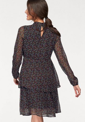 Tamaris Print Dress With Volant