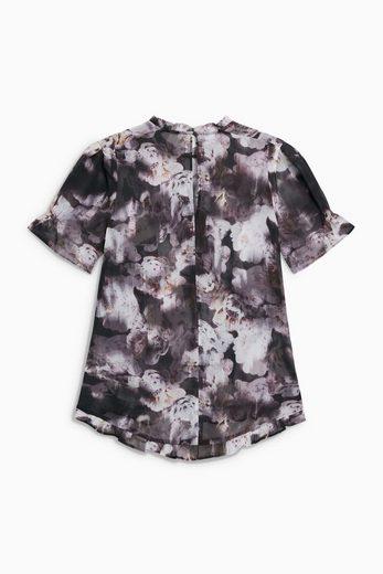 Next Weiches T-Shirt mit floralem Muster und Faltendetails