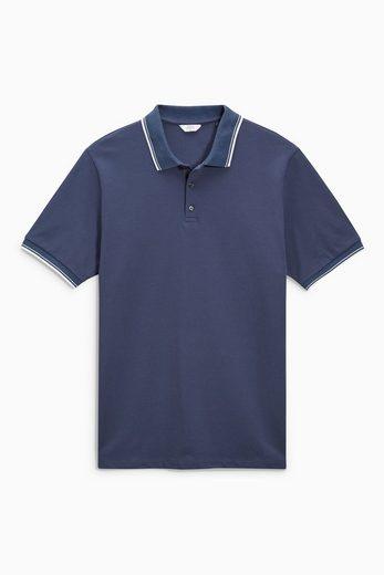 Next Kurzärmelige Poloshirt mit Kontrasträndern