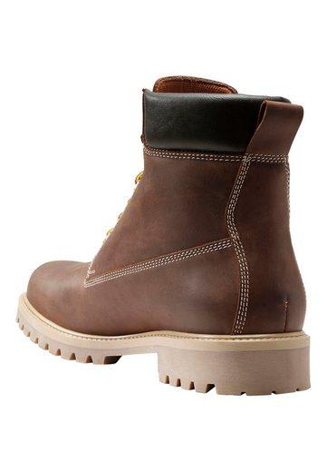 Next Schwerer Stiefel aus Leder mit Profilsohle