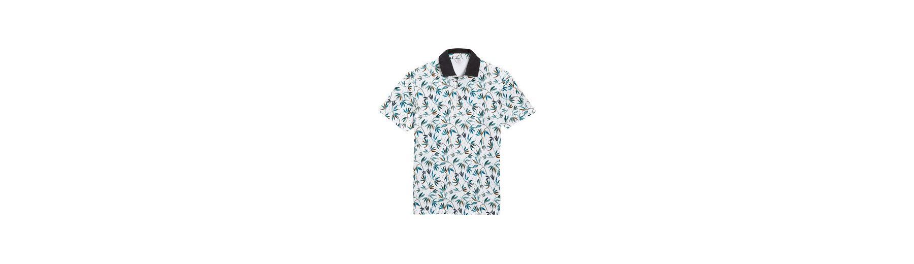 Next Poloshirt mit Blattmuster Bester Lieferant Billige Mode Rabatt Empfehlen Spielraum Extrem Cao4vT7