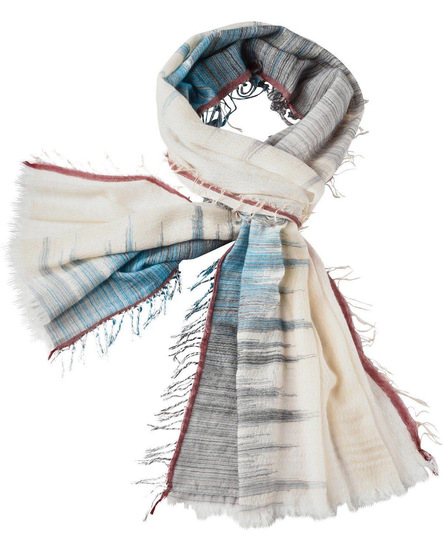 Brigitte von Schönfels Schal mit Farbverlauf