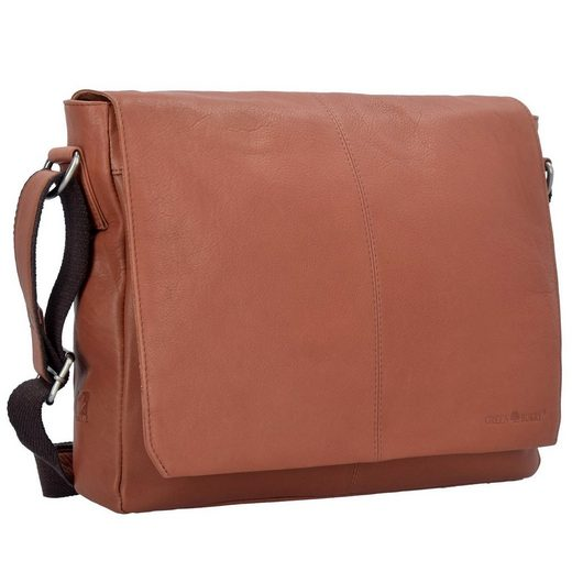 Greenburry Pure A4 Messenger Bag Tasche Leder 34 cm Laptopfach