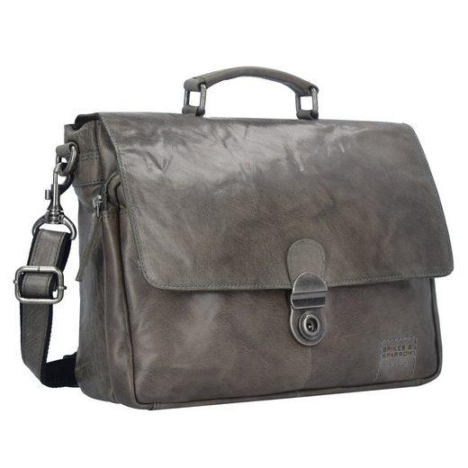 Spikes & Sparrow Bronco Messenger Bag Tasche Leder 35 cm Laptopfach
