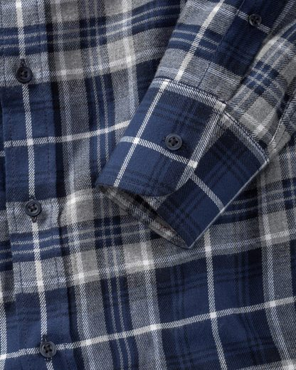 B. Flannel Shirt Of Beautiful Rock, Checkered