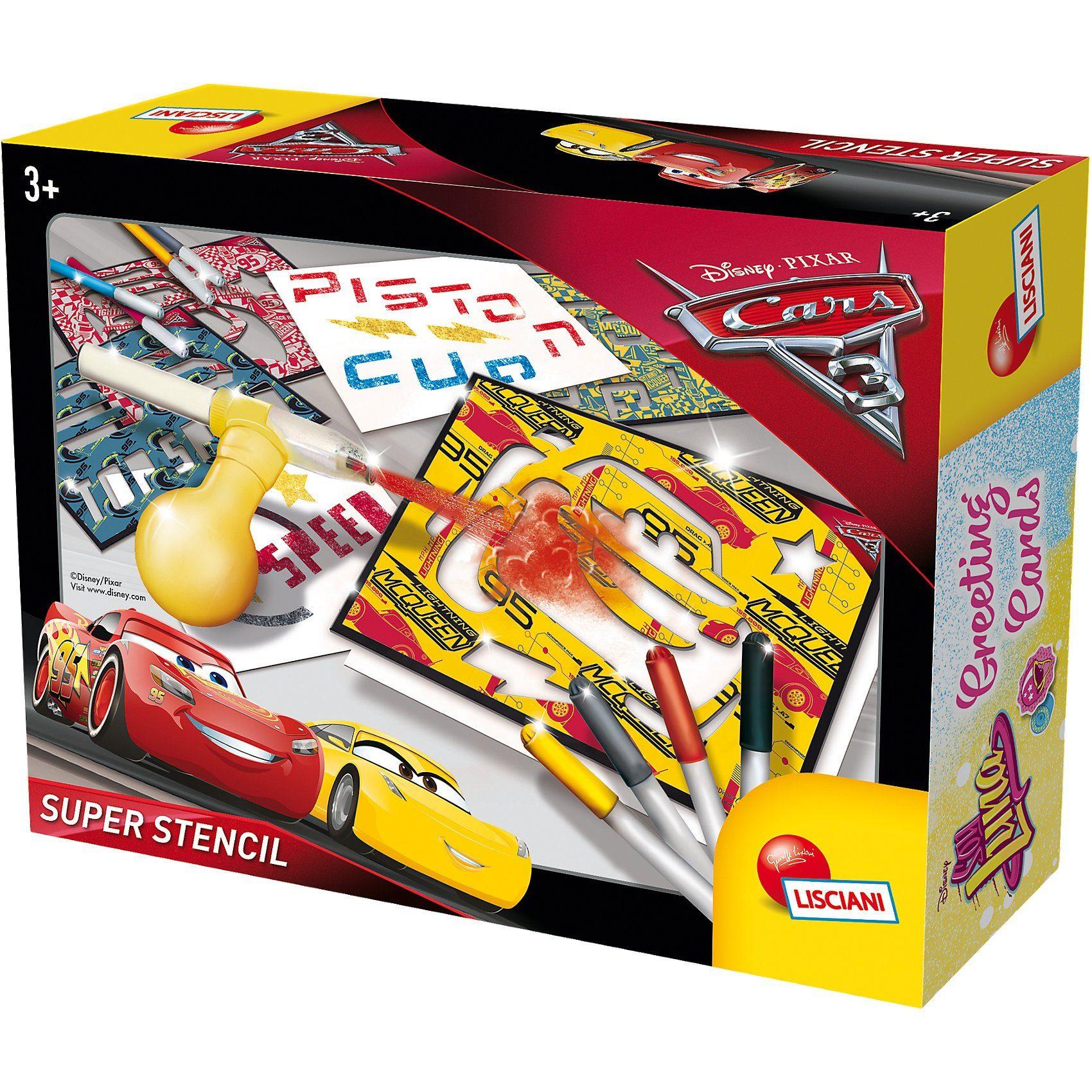 Lisciani Super Stencil - Cars 3