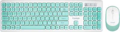 MARVO »DCM003WE BL« Tastatur- und Maus-Set, (1 St)