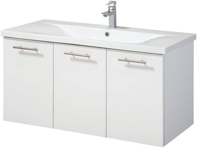 Waschtische - WELLTIME Waschplatz Set »Lugo«, Waschtisch, Breite 100 cm, 2 tlg.  - Onlineshop OTTO