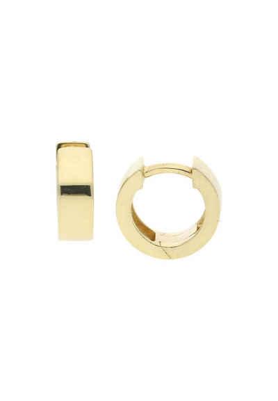 JuwelmaLux Paar Creolen »Creolen Gold Ohrringe 11,7 mm« (2-tlg), Unisex Creolen Gold 333/000, inkl. Schmuckschachtel