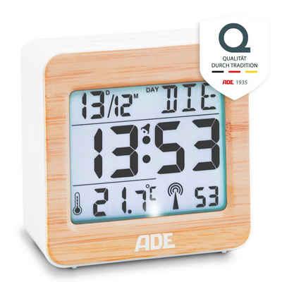 ADE Funkwecker »CK1941« Bambus Funkwecker mit Temperatur- und Datumsanzeige