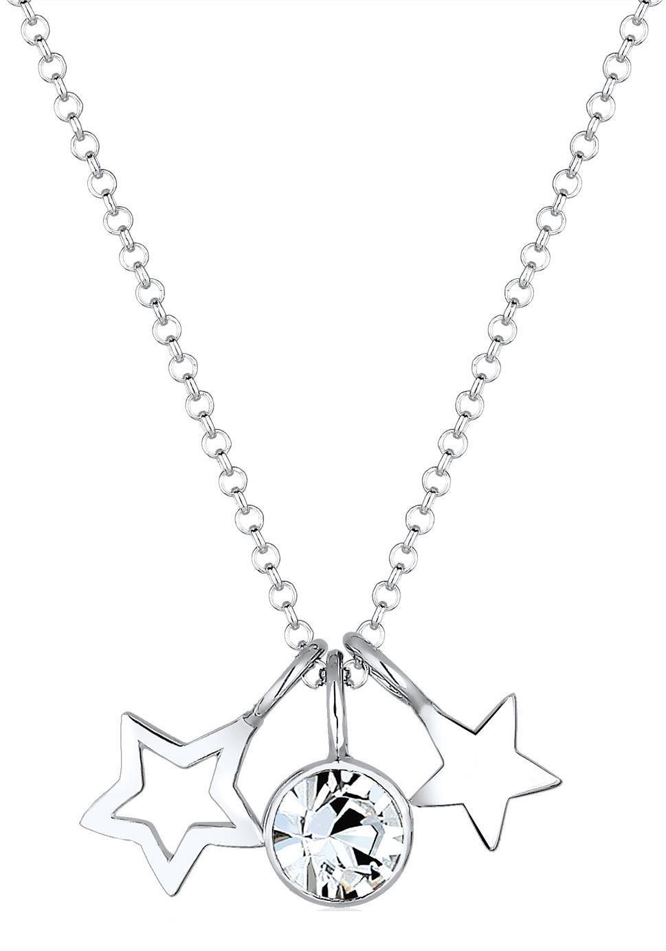 Elli Kette mit Anhänger »Sterne Astro, 0108541216« mit Swarovsi® Kristall