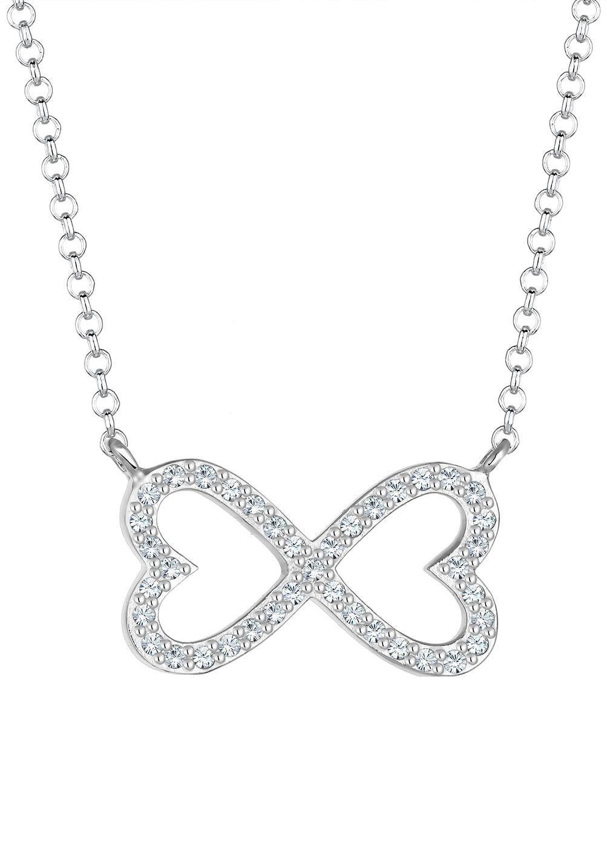 Elli Kette mit Anhänger »Herz Infinity-Unendlichkeitsschleife, 0101783117« mit Swarovsi® Kristallen | Schmuck > Halsketten > Herzketten | Silber | Elli