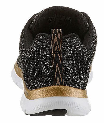 Skechers Flex Appeal 2.0 Sneaker, mit Metallic-Details