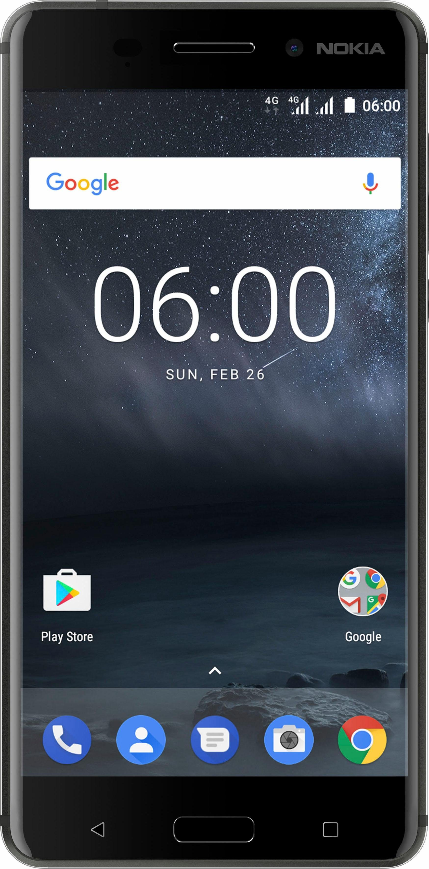 Nokia 6 Dual SIM Smartphone, 14 cm (5,5 Zoll) Display, LTE (4G), Android 7.0 (Nougat)