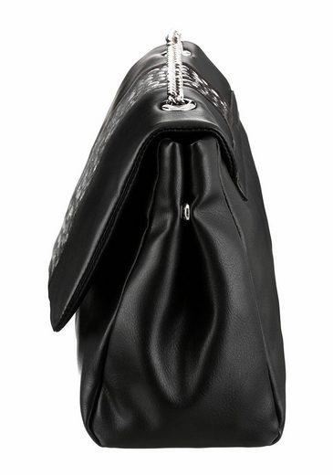 Cafe Noir Umhängetasche, mit schönen Nieten und Kettendetails im Umhängeriemen