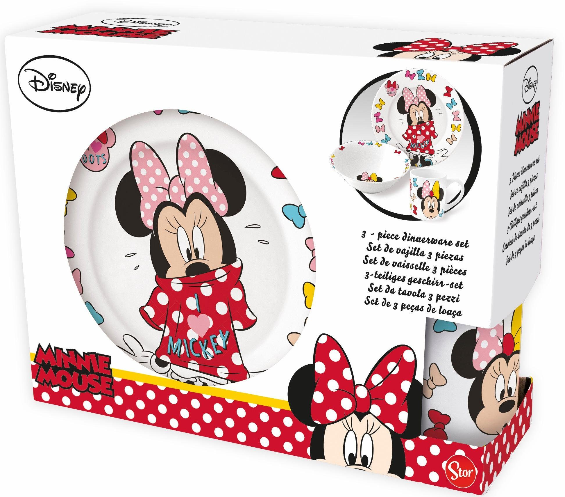 p:os Kindergeschirrset, »Disney Minnie Mouse Keramikset«
