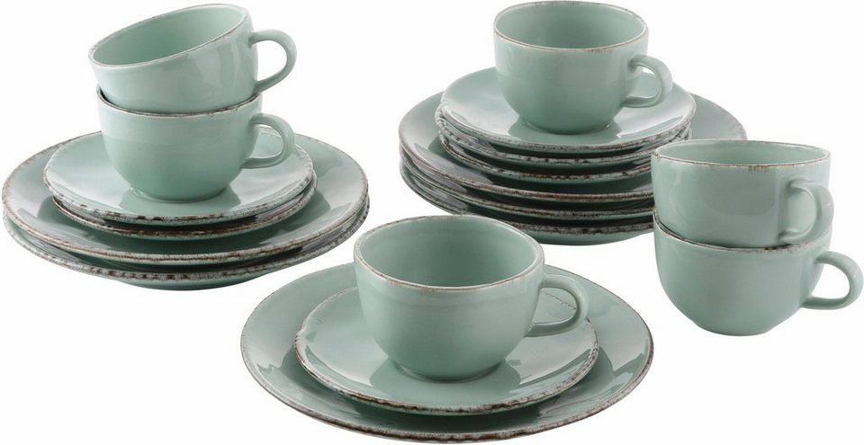 guido maria kretschmer home living kaffeeservice steingut 18 teile 3 farben naturals. Black Bedroom Furniture Sets. Home Design Ideas