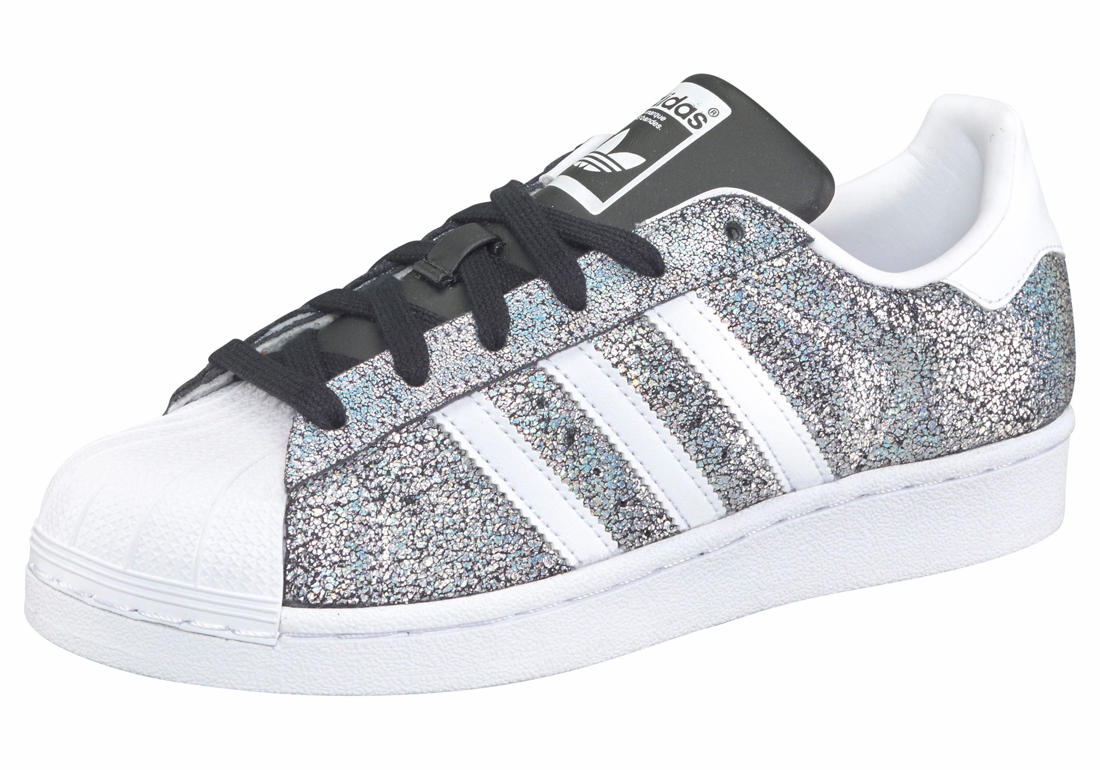 adidas Originals Superstar W Sneaker, Seasonal  schwarz-silberfarben-weiß