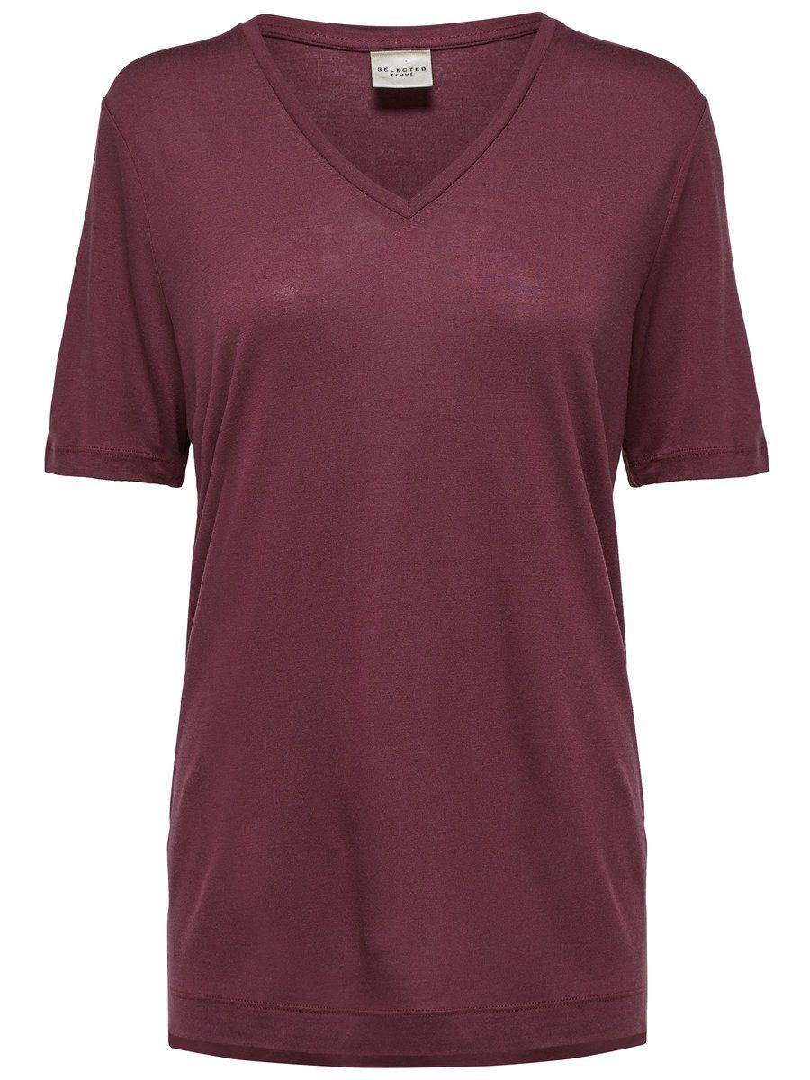Selected Femme Lyocell- T-Shirt jetztbilligerkaufen