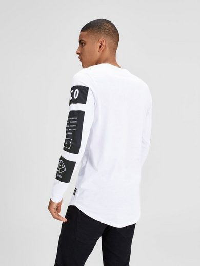 Jack & Jones Urbanes T-Shirt mit langen Ärmeln