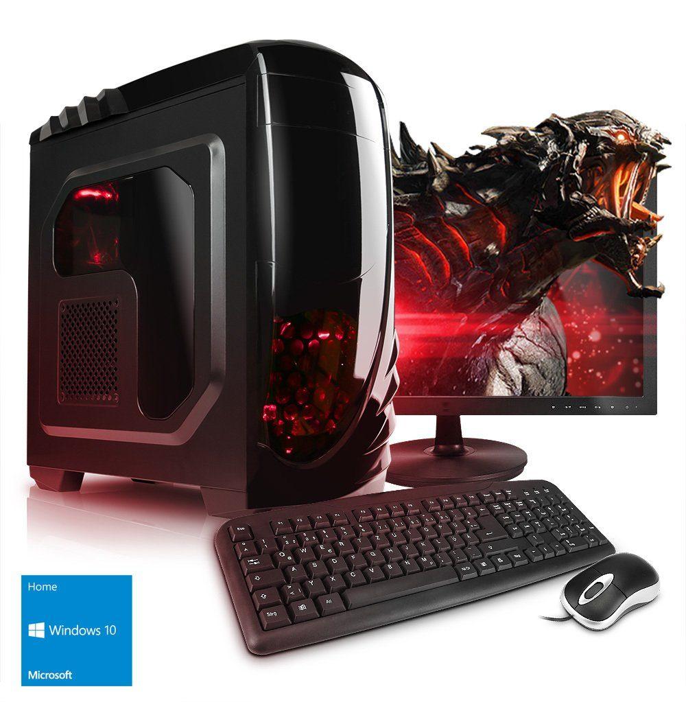 """VCM Gaming PC Set / Core i3-7100, 8GB RAM, nVidia GTX1050, 24"""" TFT"""