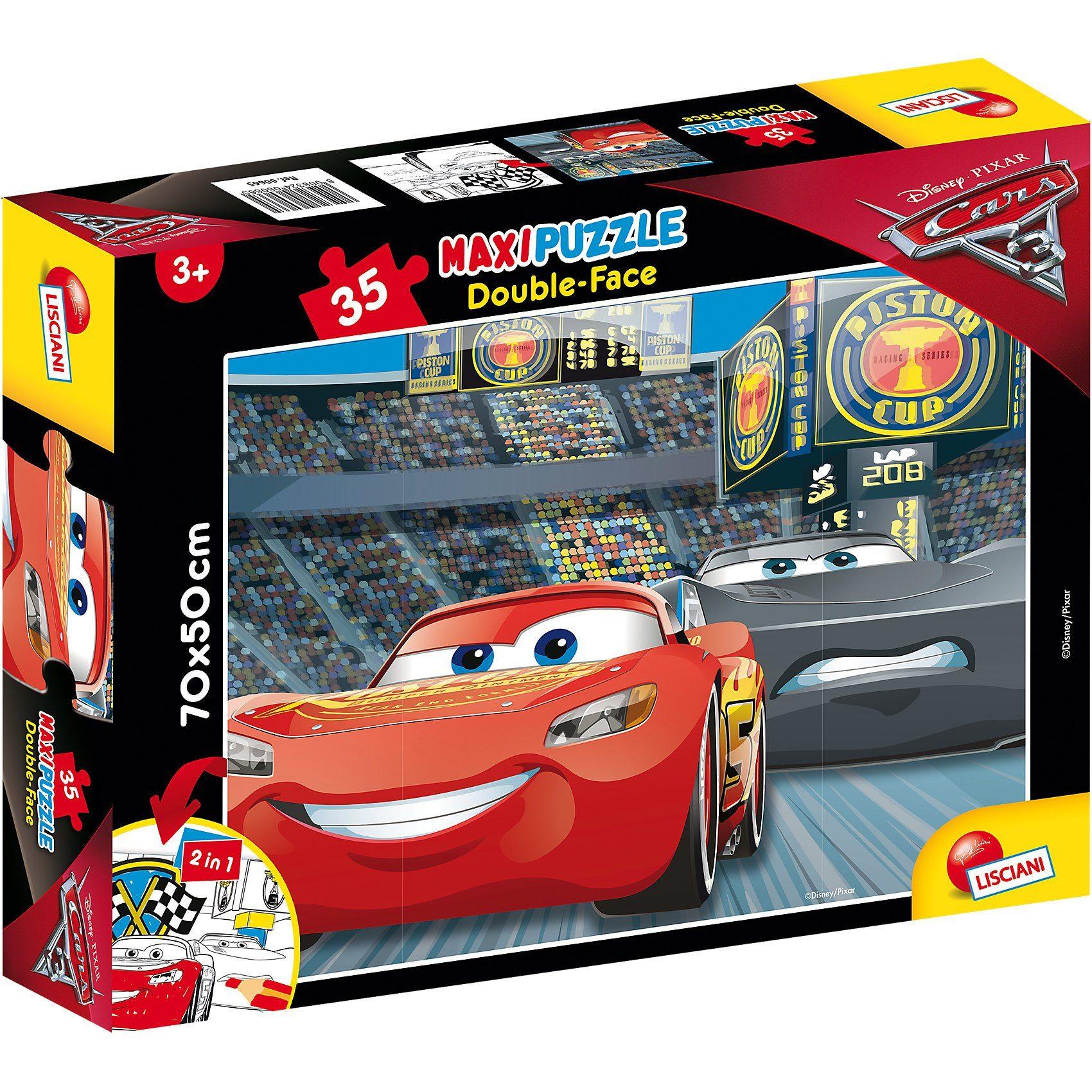Lisciani Maxi Puzzle 35 Teile Double Face - Cars 3
