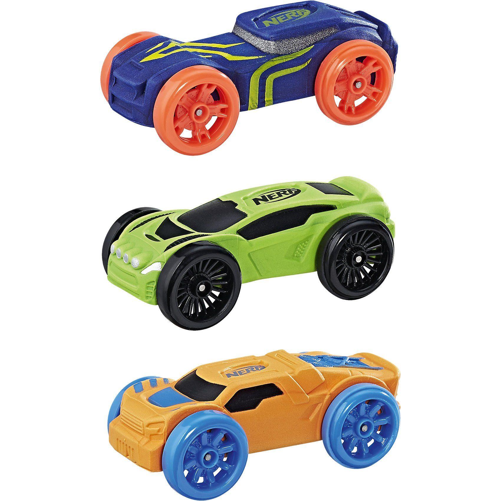 Hasbro Nerf Nitro Soft Racer 3er Pack, sortiert
