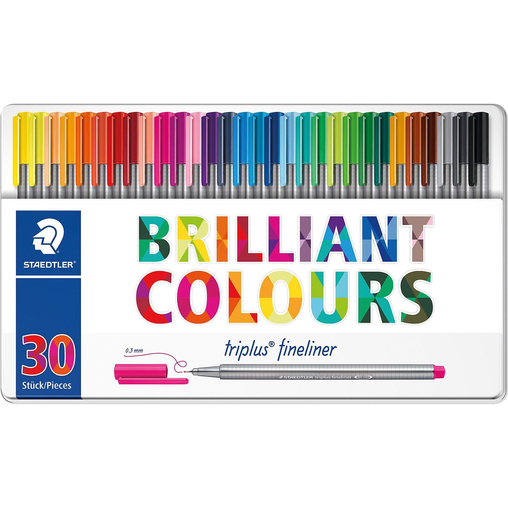 STAEDTLER Fineliner triplus color, 30 Farben