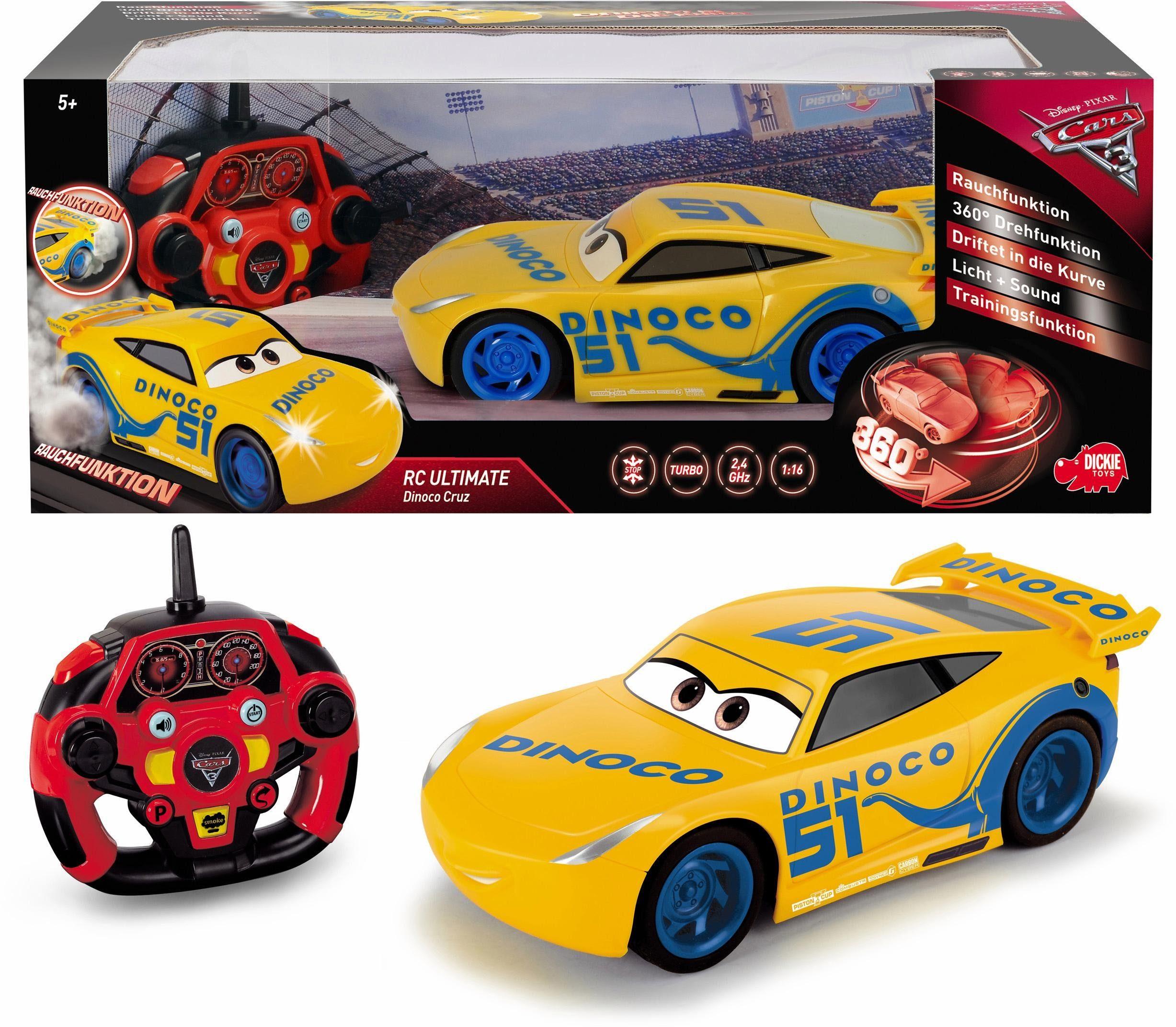 Dickie Toys RC Fahrzeug mit Rauchfunktion, »Disney Pixar Cars 3, Ultimate Cruz Ramirez, 2,4 GHz«