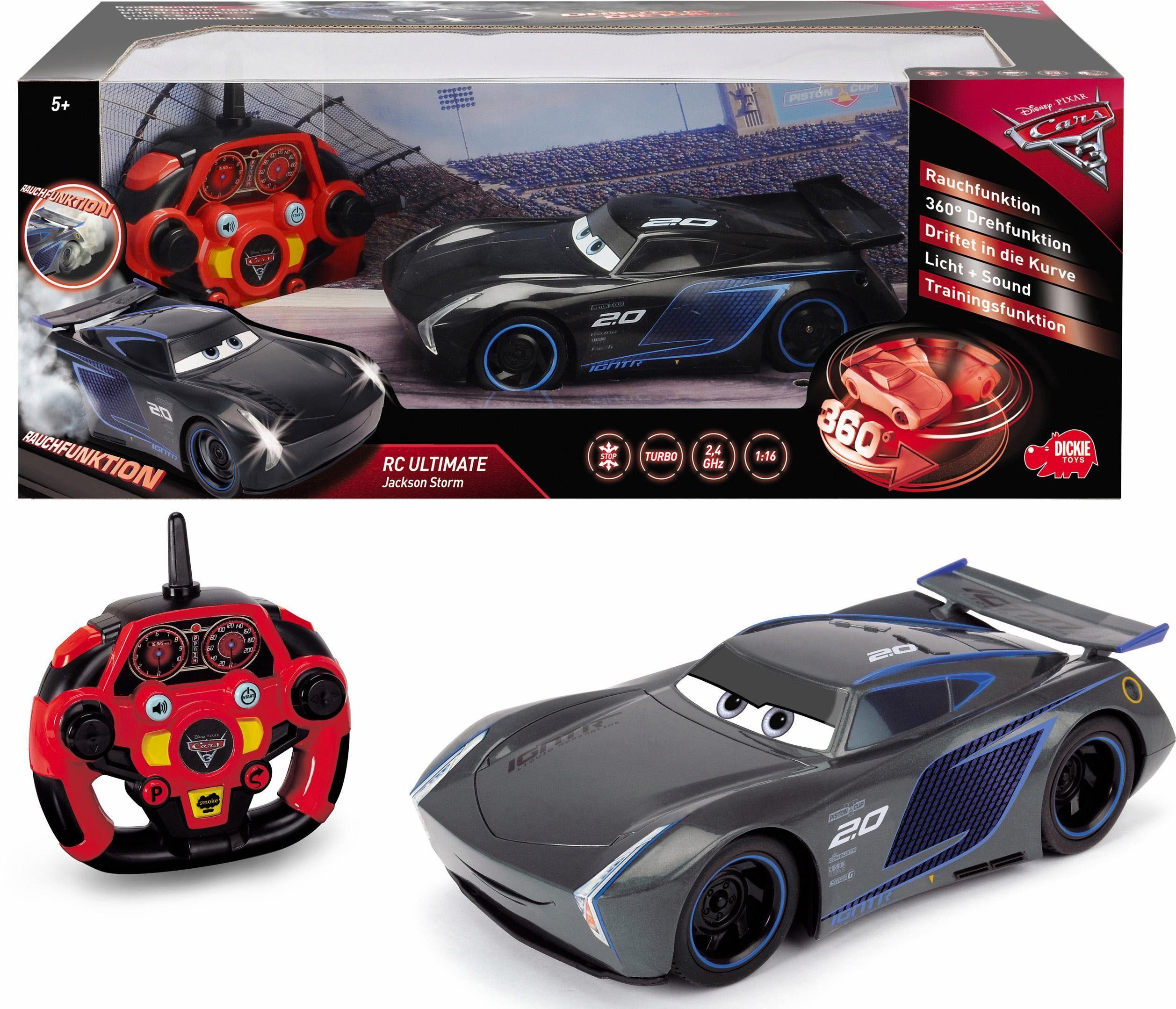 Dickie Toys RC Fahrzeug mit Rauchfunktion, »Disney Pixar Cars 3, Ultimate Jackson Storm, 2,4 GHz«