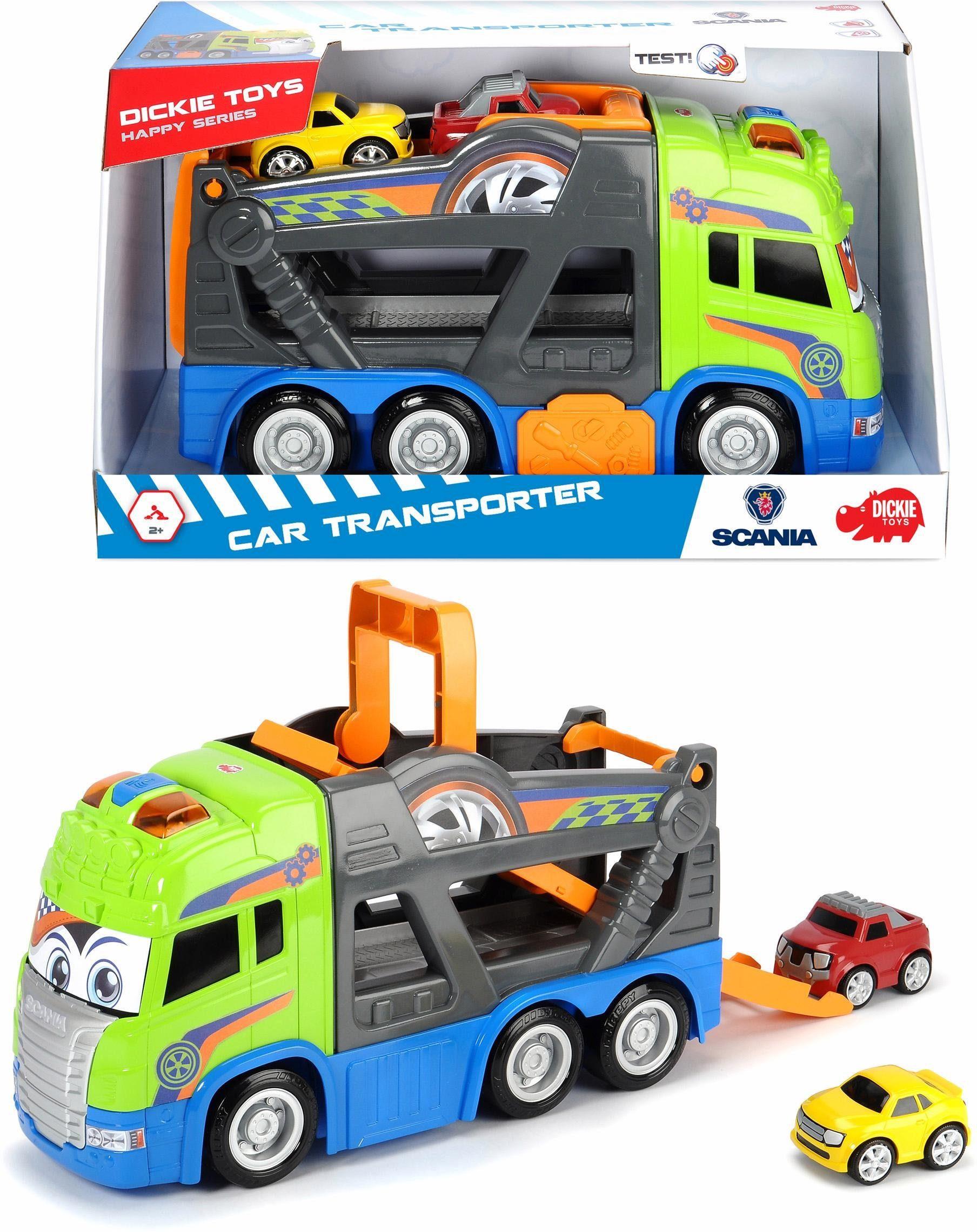 Dickie Toys Spielzeug LKW mit Licht und Sound, »Happy Scania Car Transporter«