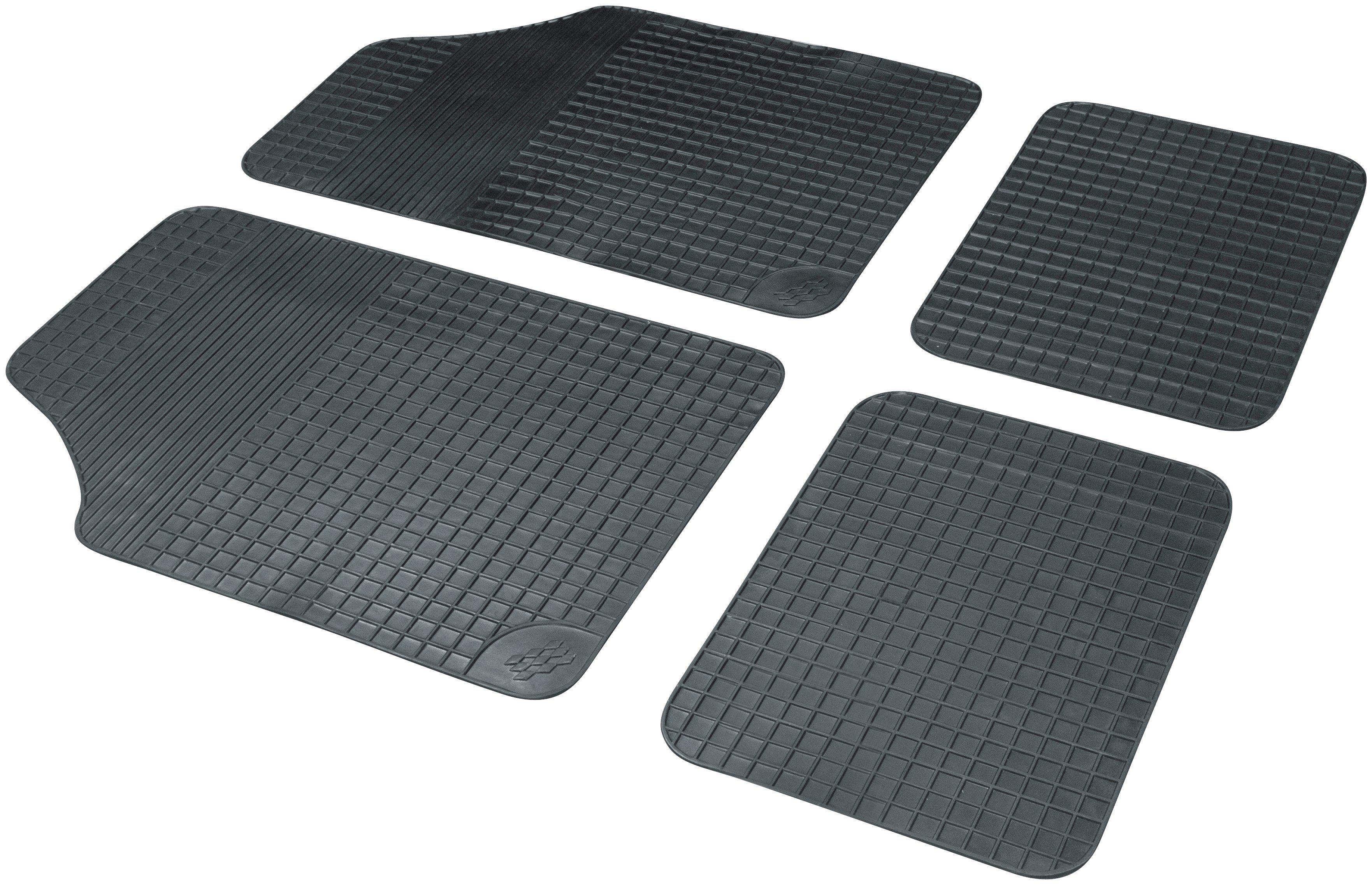 WALSER Autogummimatte »Basic Plus«, 4-tlg., schwarz