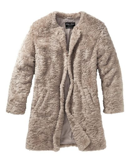 White Label Fake Fur Jacke