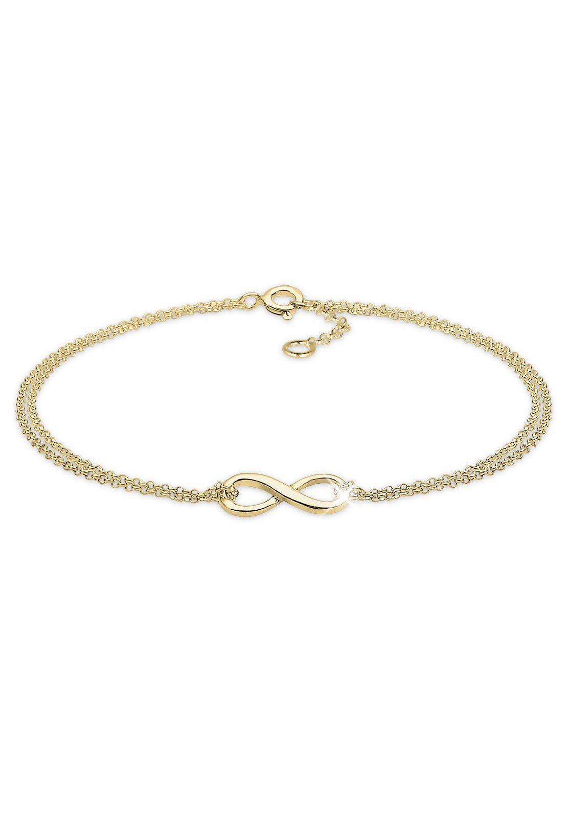 Elli Armband »Infinity Unendlichkeit 375 Gelbgold«