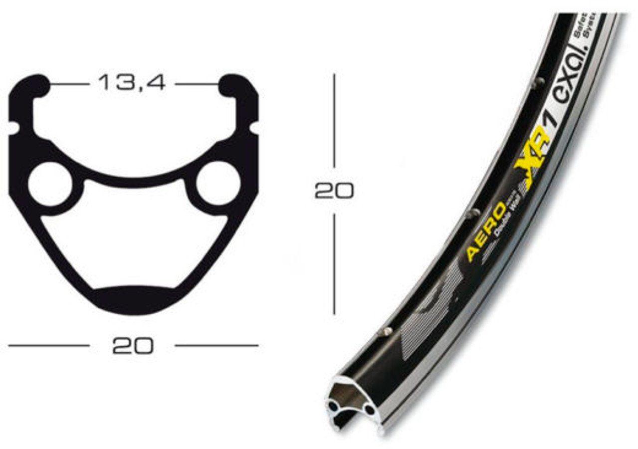 Exal Laufrad »XR-1 Vorderrad 13-622 Tiagra QR«