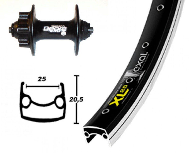 Exal Laufrad »XL 25 DISK Vorderrad 26x1.9 Deore Disc«