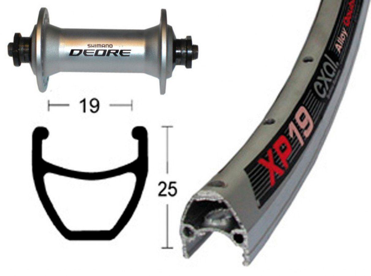 Exal Laufrad »XP-19 Vorderrad 28x1.75 Deore«